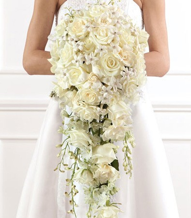 Large White Rose Brides Bouquet